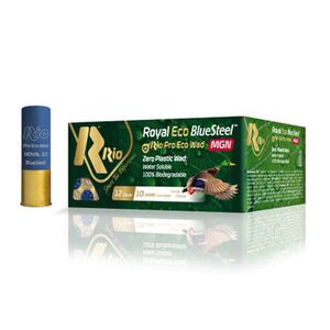 "RIO Ammo Royal ECO BlueSteel Magnum 12 Gauge Shot Shells 250 Rounds 3"" 1 1/8 oz #BB Shot"