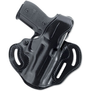 Galco Cop 3 Slot Belt Holster SIG P250 Compact Thumb Break Right Hand Leather Black CTS606B