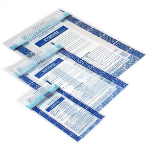 """Armor Forensics Evidence Security Bags 4 Mil Thickness 12""""x15"""" Bundle of 100 3-2052"""