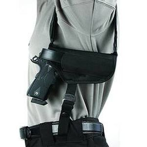"BLACKHAWK! Horizontal Shoulder Holster 3.25"" to 3.75"" Barrel Medium and Large Frame Autos Right Hand Black Nylon Shirt Size L-XXL 40HS16BK-LG"