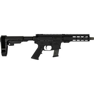 "Windham Weaponry 9mm Luger AR-15 Semi Auto Pistol 9"" Barrel 17 Rounds Uses GLOCK Style Magazines Free Float Handguard SB Tactical Pistol Brace Black Finish"
