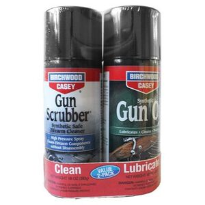 Birchwood Casey Gun Scrubber and Synthetic Gun Oil Value Pack 10 oz Aerosol Cans 33302