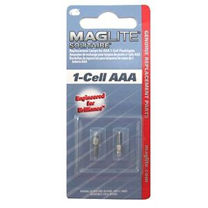 Maglite Replacement Bulb Solitaire 2 Pack LK3A001
