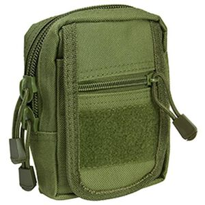 "NcSTAR Small Utility Pouch Heavy Duty Nylon PVC Material 6.5""x4.25""x2"" Green"