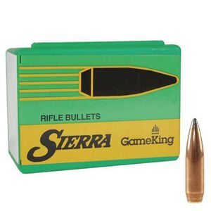 "Sierra .338 Caliber .338"" Diameter 250 Grain GameKing Spitzer Boattail Bullets 50 Count 2600"