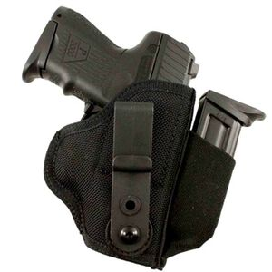 DeSantis Gunhide Tuck-This II GLOCK 17, 19, 22, 23, 31, 32, Walther P99, Ruger SR9, SR40 Tuckable Inside the Waistband Holster Ambidextrous Nylon Black M24BJLAZ0