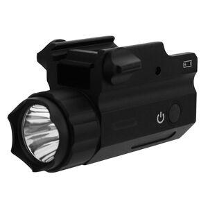 TacFire Compact Pistol Light Rail Mount 360 Lumens White Light Aluminum Black