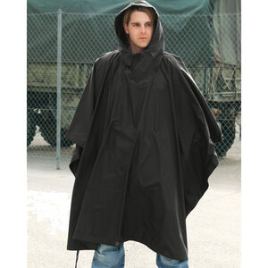 Mil-Tec Ripstop Wet Weather Poncho Black 10630002