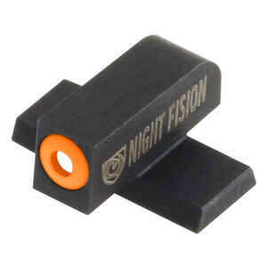 Night Fision Perfect Dot Tritium Front Sight Only SIG Sauer P-Series Pistols #8 Front Sight Green Tritium Front Orange Outline Metal Body Black Nitride Finish