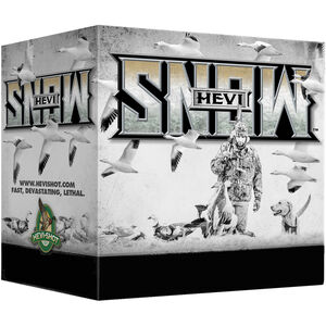 "Hevi-Shot Hevi-Snow 12 Gauge Ammunition 25 Rounds 3-1/2"" Shell BBB Steel Shot 1-3/8oz 1550fps"