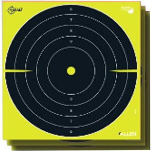 "Allen Company EZ Aim Non-Adhesive Splash Bull's-Eye Target 12""x12"" 12 Pack Yellow and Black"