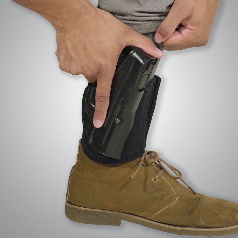 Galco Ankle Glove SIG Sauer P238 Ankle Holster Right Hand Black