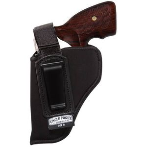 """Uncle Mike's Inside the Pant Holster with Retention Strap Size 36 Small Frame Revolvers with 2"""" Barrel Left Hand Nylon Black 76362"""