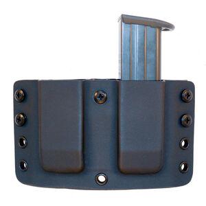"Comp-Tac Twin Warrior Magazine Pouch IWB/OWB Belt Slide CZ P07/09 Ruger SR9 and Similar Magazines 1.5"" Belt Size 12 Ambidextrous Kydex Black"