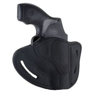 1791 Gunleather RVH-1 OWB Belt Holster for J-Frame Revolvers Right Hand Draw Leather Black