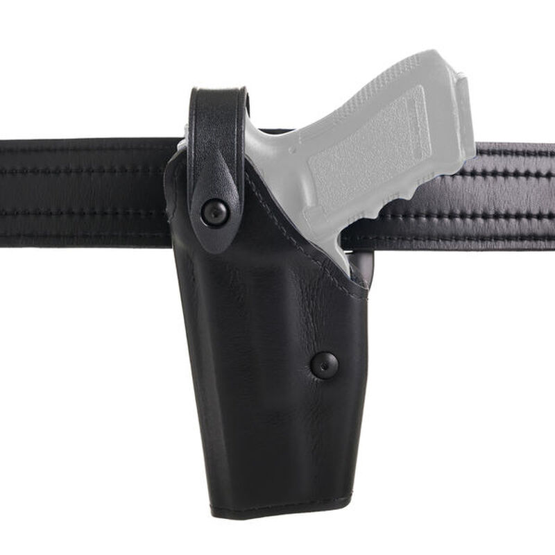 Safariland 6280 SLR Mid-Ride Duty Belt Holster Fits FN Fiveseven IOM/USG Models Left Hand Hardshell STX Tactical Black