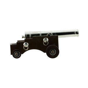 """Traditions Old Ironsides Black Powder Cannon .50 Caliber 9"""" Barrel Wooden Carriage Nickel Finish"""