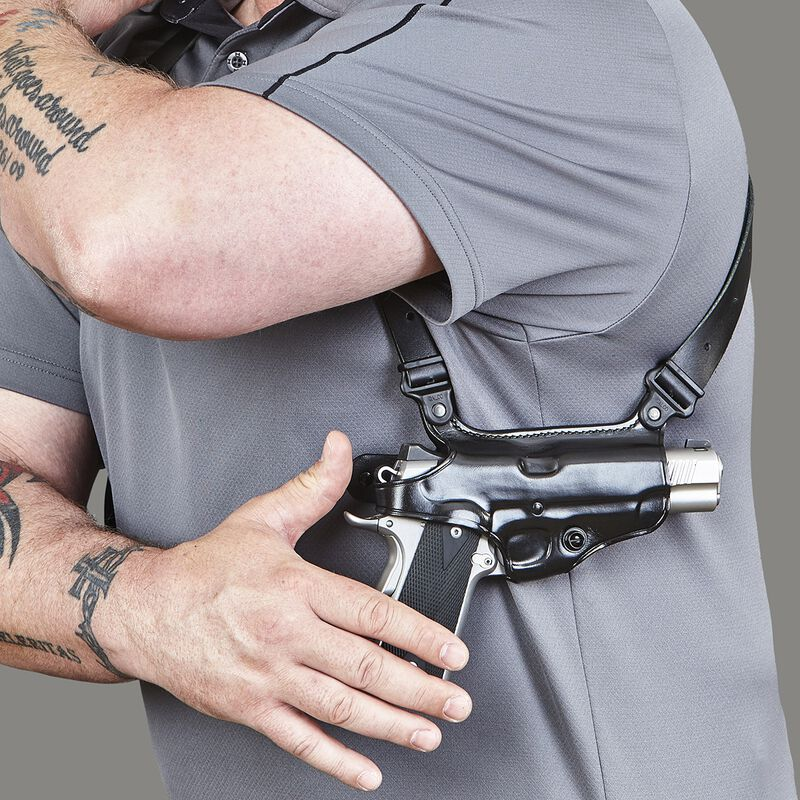 Galco Miami Classic SIG Sauer P239 Shoulder Holster System Right Hand Leather Black MC296B