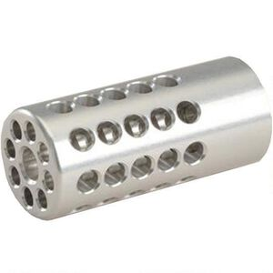 "Tactical Solutions Trail-Lite .900"" Compensator Threaded 1/2x28 .900 Diameter 360 Degree Ported Matte Black Silver"