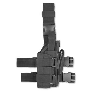Leapers UTG Extreme Ops 188 Tactical Drop Leg Holster Light/Laser Compatible Right Hand Draw Nylon Matte Black