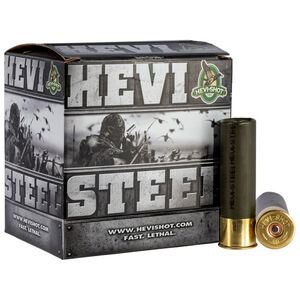 "Hevi-Shot Hevi-Steel 12 Gauge Ammunition 2-3/4"" Shell #6 Steel Shot 1-1/8oz 1500fps"