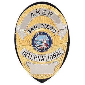 Aker Leather Clip On Shield Badge Holder Leather Black