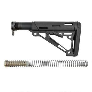 Hogue AR-15 Collapsible Carbine Buttstock Kit Mil-Spec OverMolded Black 15045