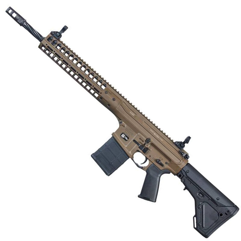 "LWRC R.E.P.R MKII Semi Auto Rifle 7.62 NATO 16"" Spiral Fluted Barrel 20 Rounds Free Float Hand Guard Magpul Stock/Pistol Grip Flat Dark Earth"