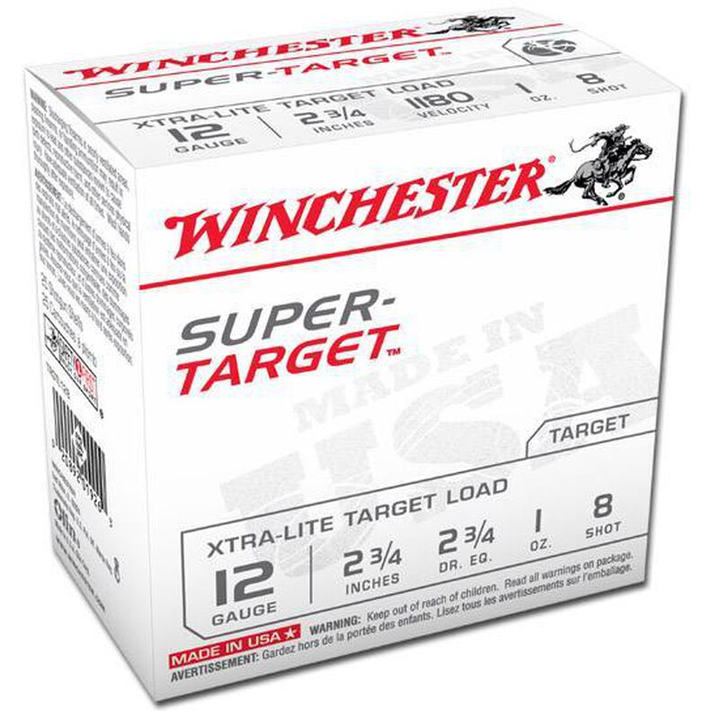 "Winchester Super Target 12 Ga 2.75"" #8 Lead 1 oz 25 Rounds"