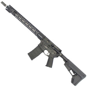 """Stag Arms STAG-15 3Gun Elite Semi Auto Rifle 5.56 NATO 18"""" Stainless Steel Barrel 30 Rounds Stag Free Float M-LOK Compatible Hand Guard Magpul ACS Stock Left Hand System Matte Black Finish"""