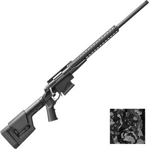 "Remington 700 PCR Bolt Action Rifle 6.5 Creedmoor 24"" Barrel 5 Rounds SquareDrop Aluminum Hand Guard Magpul PRS Gen 3 Stock Veil Cervidae Camo/Black Finish"