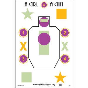 """Action Target A Girl & A Gun Target 23""""x35"""" 100 Count"""