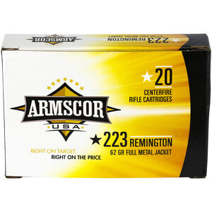 Armscor USA .223 Rem Ammunition 62 Grain FMJ 3050 fps