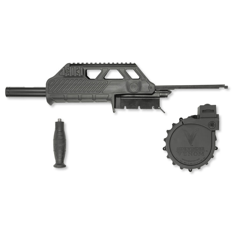 Adaptive Tactical, Sidewinder Venom Mossberg 500 Conversion Kit, 10 Round Rotary Magazine, Wraptor Forend, Polymer, Black