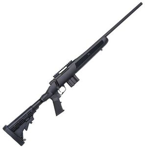 "Mossberg MVP Flex Bolt Action Rifle 5.56 NATO 18.5"" Medium Bull Barrel 10 Rounds FLEX 6 Position Collapsible Stock Matte Blued Finish 27744"