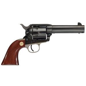 "Cimarron Pistoleer Single Action Revolver .45 Colt 4-3/4"" Barrel 6 Rounds Walnut Grips Blue with Nickel Backstrap and Triggerguard"