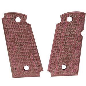 Hogue Kimber Micro .380 Ambidextrous Safety Grip Piranha G10 G-Mascus Pink Lava