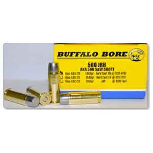 Buffalo Bore .500 JRH Ammunition 20 Rounds Hard Cast FN 440 Grain 44A/20