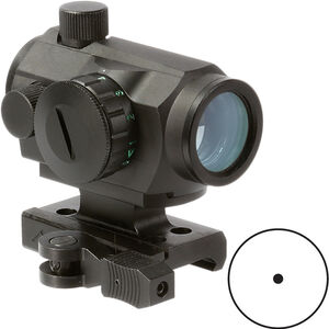 Aim Sports Micro Dot Sight 1x20mm Red/Green Dot Reticle with QD Lower 1/3 Co-Witness Riser Aluminum Black