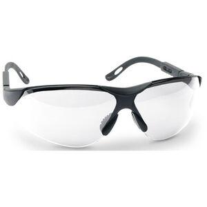 GSM Outdoors Walkers Shooting Glasses ANSI 287.1-2003 Clear Lenses Black Frame