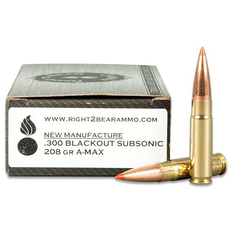 BECK AMMUNITION  300 Blackout Ammunition 20 Rounds Subsonic Hornady A-Max  208 Grains 300BLACK208AMAX