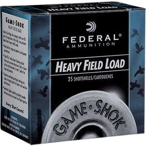 """Federal Game-Shok Heavy Field Load 28 Gauge Ammunition 250 Rounds 2-3/4"""" #7.5 Lead Shot 1oz 1220fps"""