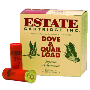 "Estate Cartridge 12 Gauge Ammunition 25 Rounds 2-3/4"" #7.5 Lead 1-1/8 Ounce 1255 fps HG12 7.5"