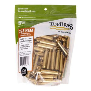 Top Brass .223 Remington Reconditioned Brass 100 Count Bag