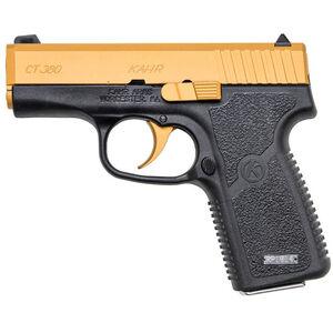 "Kahr Arms CT380 Gold Semi Auto Pistol .380 ACP 3"" Barrel 7 Rounds Gold Cerakote Stainless Steel Slide Textured Polymer Frame Matte Black Finish"