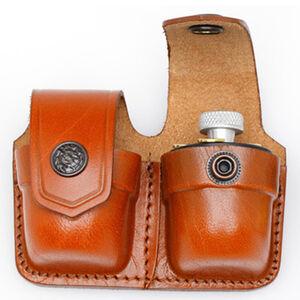 "JBP Double Speed Loader Case Fits .357 and .44 Magnum Brown Leather  Fits 1 3/4"" Belt"