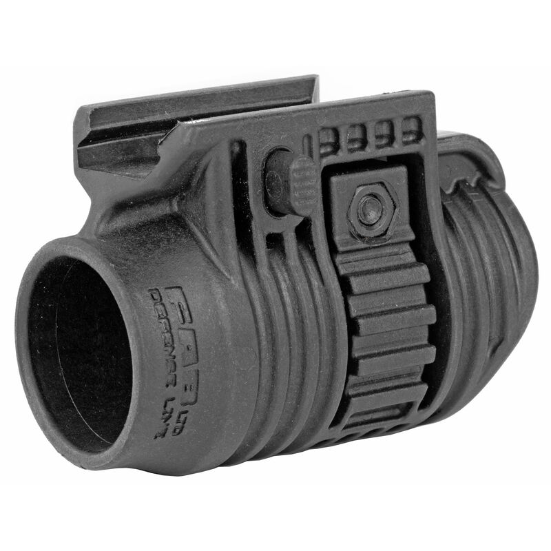 """FAB Defense Quick Release Mount Picatinny Compatible Fits Most 1-1/8"""" Flash Lights Polymer Matte Black"""