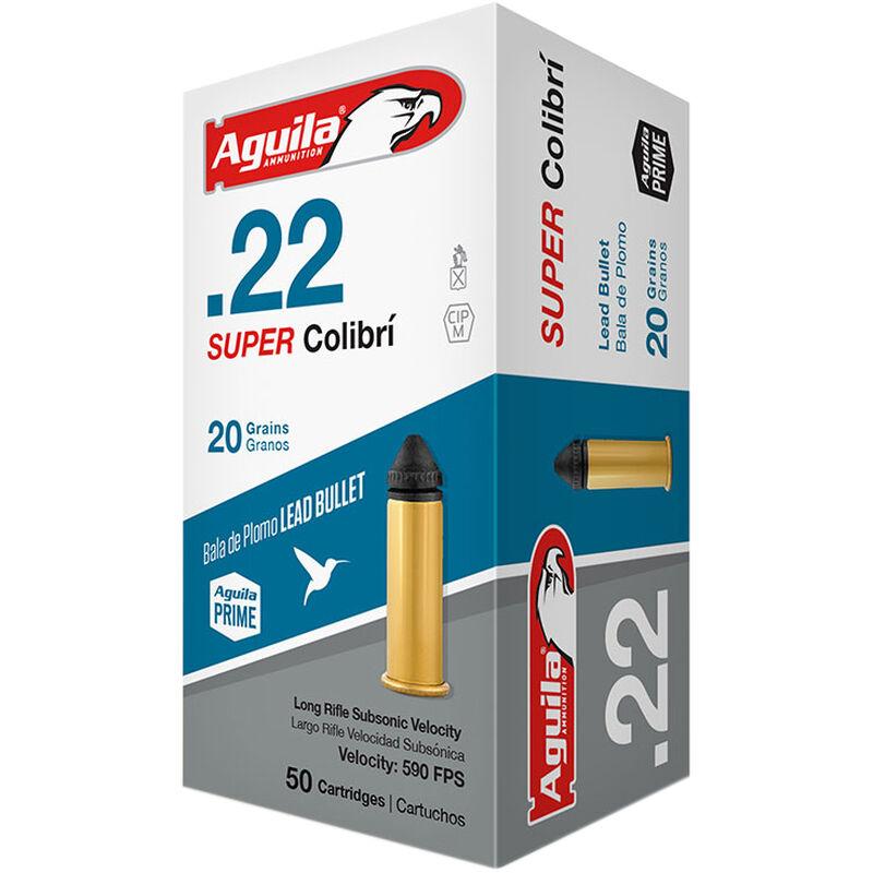 Aguila Super Colibri .22LR Ammunition 20 Grain Conical Bullet Subsonic 590 fps