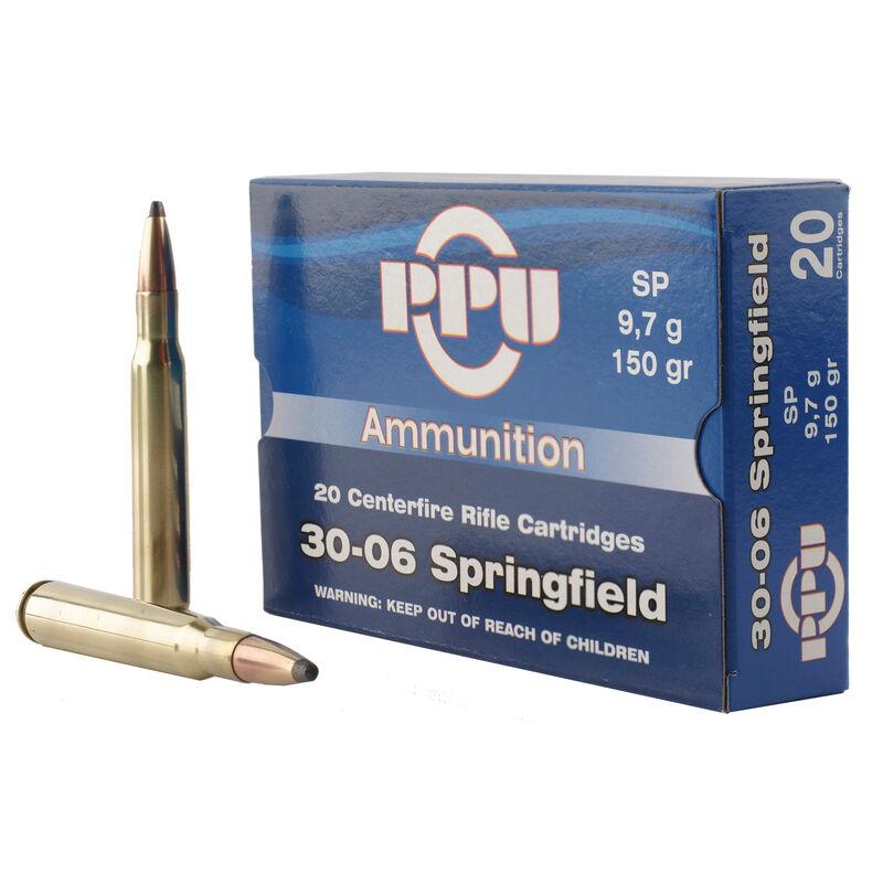 Prvi Partizan PPU .30-06 Springfield Ammunition 20 Rounds 150 Grain Soft Point 2910fps