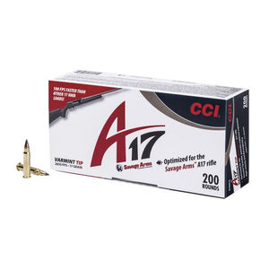 CCI A17 .17 HMR Ammunition 200 Rounds Varmint Tip 17 Grain 2,650 Feet Per Second